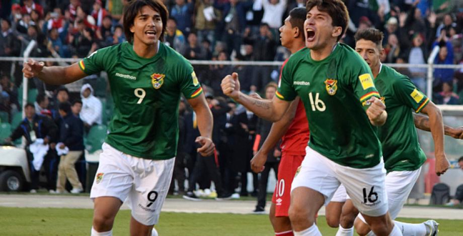 Bolivia festeja Triunfo ante Peru