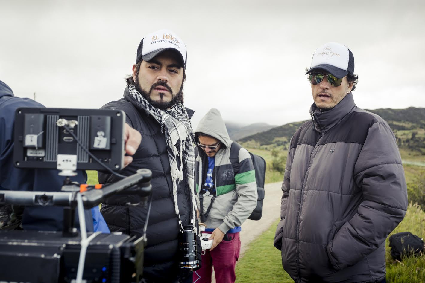 Carlos del Castillo junto a Robespierre Rodríguez, director de fotografía de la cinta.