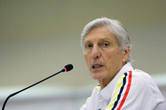 El argentino José Néstor Pékerman, entrenador de la selección Colombia de fútbol.