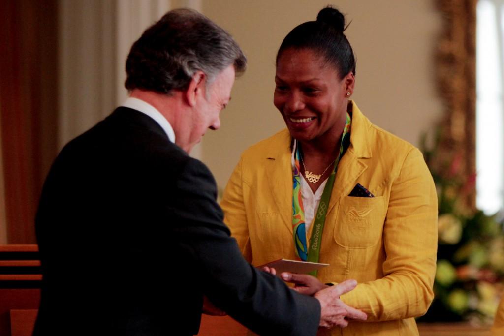 El presidente de la República Juan Manuel Santos, recibió a los medallistas olímpicos de los JJ.OO de Río 2016.