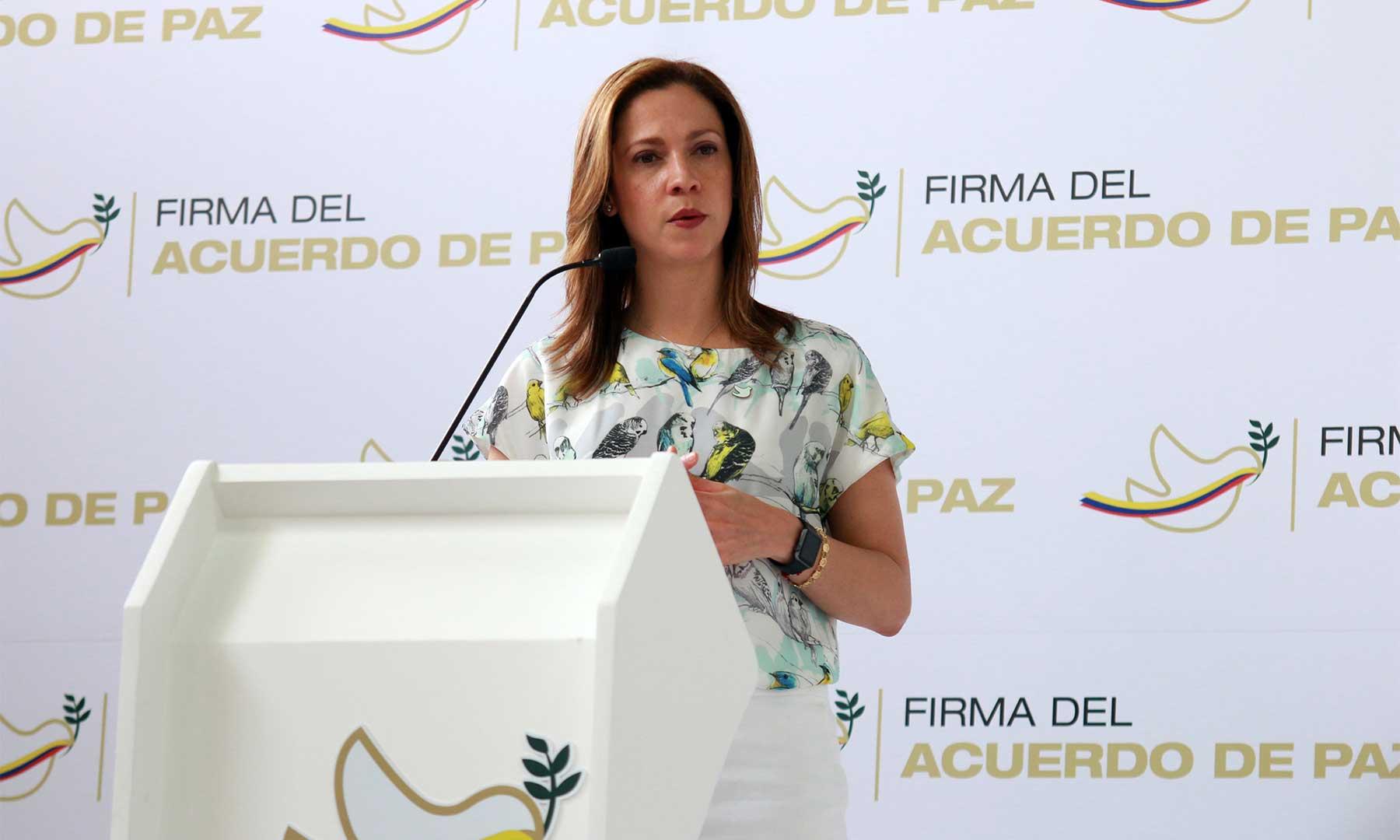 Evento de Firma del Acuerdo de Paz es para cerrar la guerra y abrir la paz, afirmó Ministra de Comercio, María Claudia Lacouture