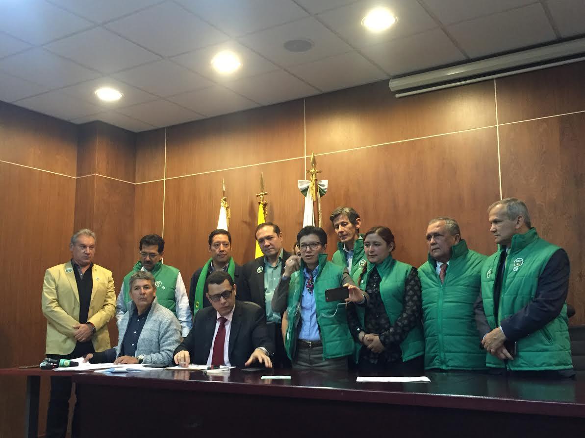 Partido Alianza Verde oficializó el día de hoy el comité promotor por el SÍ a la PAZ