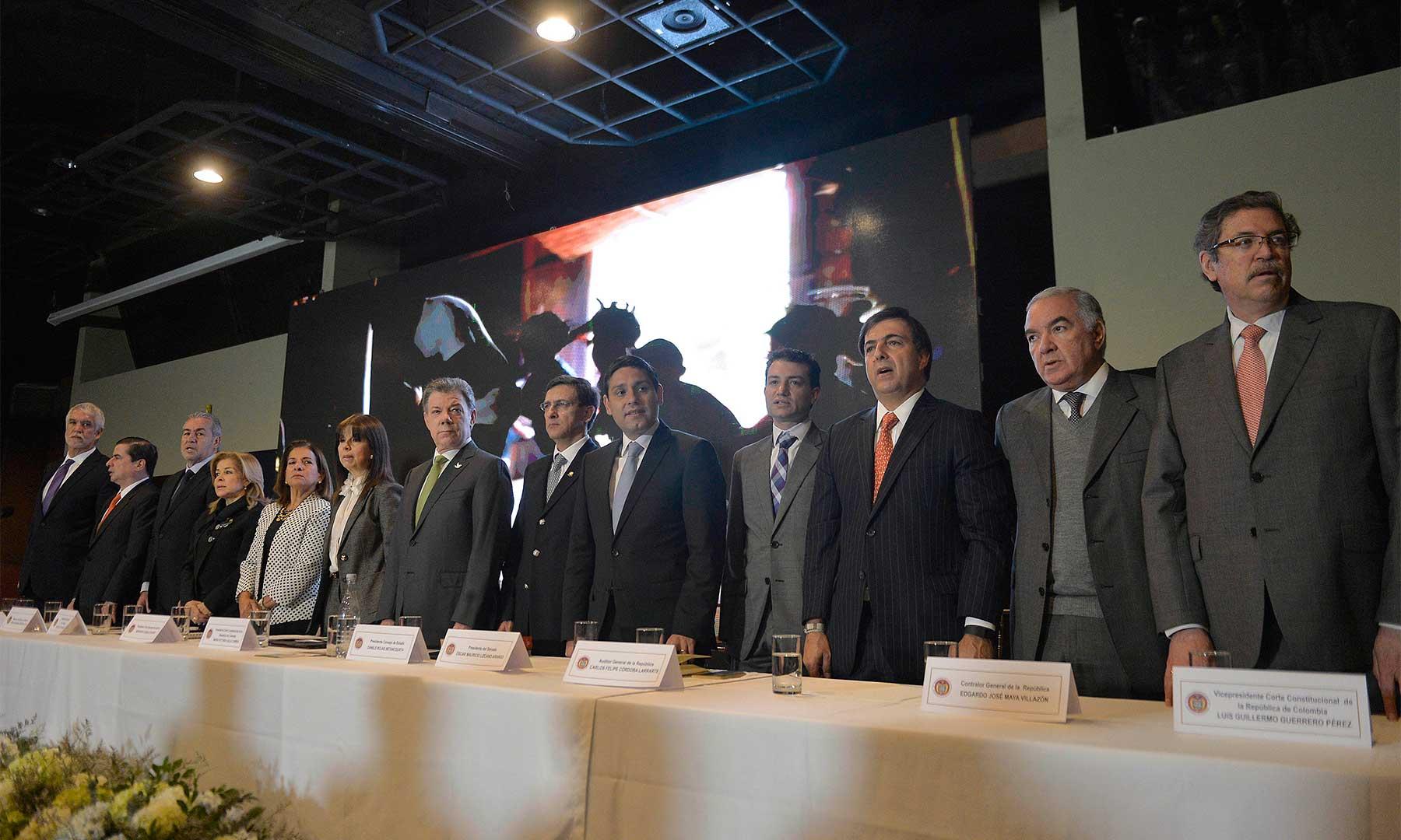 El Presidente Santos acompañó a los presidentes y máximos representantes de las altas cortes de justicia y organismos de control en la inauguración del XI Encuentro de la Jurisdicción Constitucional.