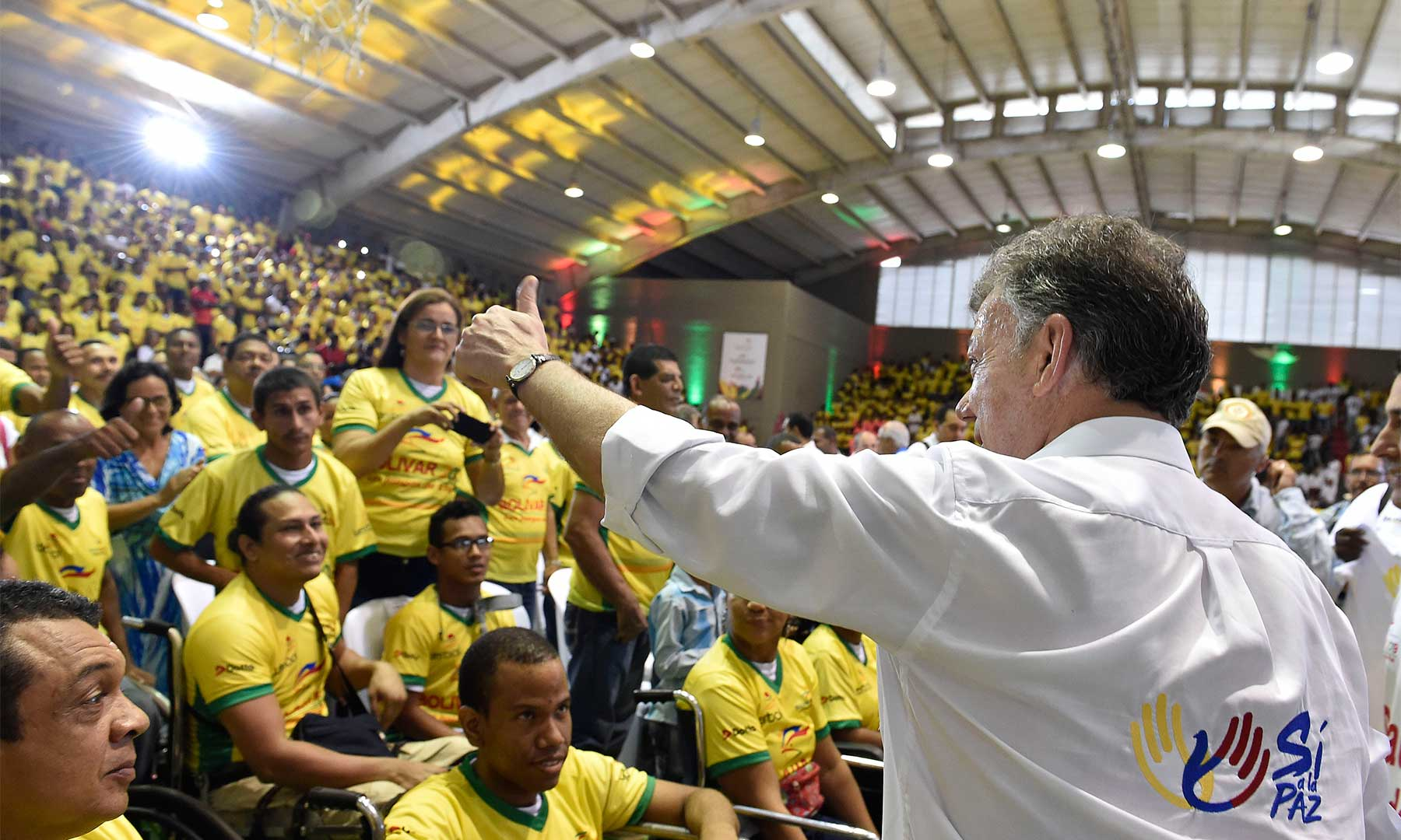 El Presidente Juan Manuel Santos dijo que impartió órdenes al Ministro de Defensa para que los cartageneros tengan la mayor seguridad, en un homenaje celebrado hoy en la capital de Bolívar.