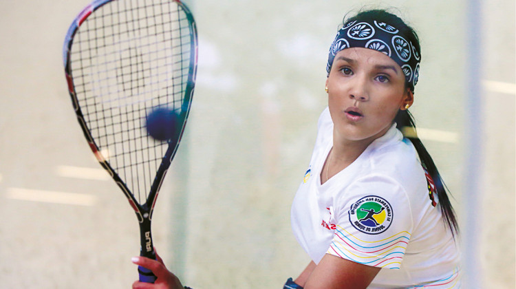 La squashista santandereana, Karol González.