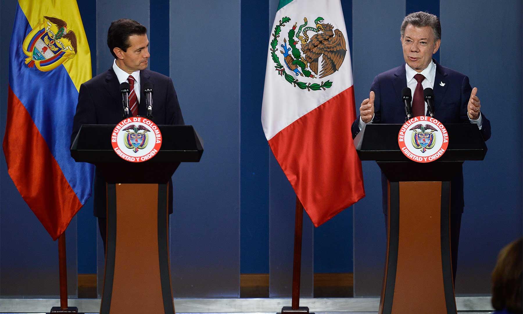 Los Presidentes de Colombia y México se comprometieron a profundizar su relación comercial, cultural, educativa y deportiva con la suscripción de distintos convenios bilaterales.