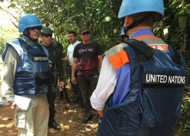 Destrucción de municiones y explosivos, FARC-EP - Foto: Misión ONU Colombia