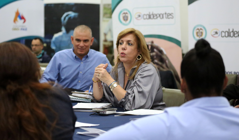 Clara Luz Roldán, directora del ente rector del deporte en Colombia