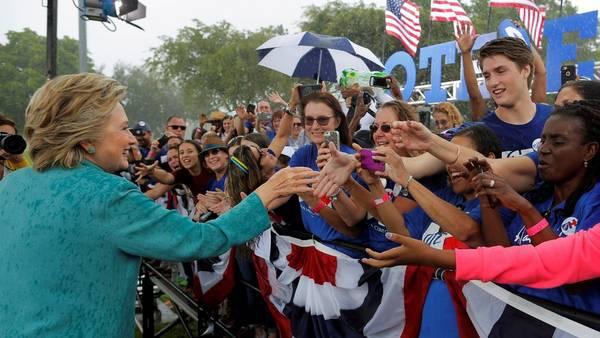 La candidata demócrata cuenta con una intención de voto del 47 por ciento.