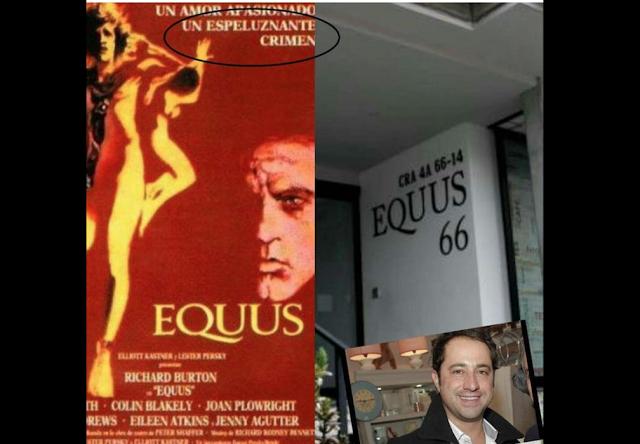 Nótese la coincidencia entre la caligrafía del poster de la película y la que aparece como identificación del edificio donde fue perpetrado el crimen de la niña.