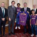 EL Presidente Duque felicitó a la Fundación Barça, a Gran Tierra (Gran Tierra Energy), y al Director General de la ARN, por la puesta en marcha del programa Deporte como garantía de los derechos humanos para la niñez.