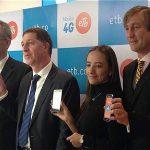 Ceremonia del lanzamiento de 4G de ETB móvil realizado este martes en la tienda experiencia al cliente. Foto: Archivo particula