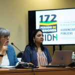 La presidenta de la JEP estuvo acompañada por la magistrada Alexandra Sandoval, de la Sala de Indulto y Amnistía de la JEP