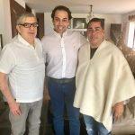 César Gaviria, Alejandro Chacón y Jaime Marthey, Cúcuta