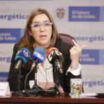 Ministra de Minas y Energía, María Fernanda Suárez