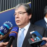 declaración a medios del Canciller Holmes Trujillo durante Concordia Américas Summit 7
