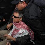 Santrich llegó fuertemente custodiado a los juzgados de Paloquemao.