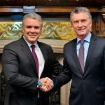 El Presidente Iván Duque se entrevistó este lunes en Buenos Aires con el Jefe de Estado argentino, Mauricio Macri, en la primera visita oficial del Mandatario colombiano a esa nación.