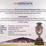 Invitación Presentación del Libro Historia Infográfica de la Copa América