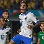 Brasil derrotó por 3-0 a Bolivia