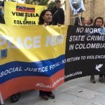 "Manifestantes gritan ""asesino"" a Duque en Londres por muertes de líderes sociales"