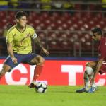James-Rodríguez--Colombia venció 1-0 Qatar este miércoles con un tanto de Duván Zapata a poco del final