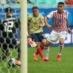 Cuellar hizo el único gol del Encuentro Colombia-Paraguay