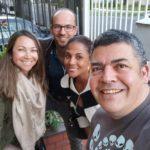 Darcy Quinn, Jorge Espinosa, Mabel Lara y Gustavo Gómez hacen parte de la nueva mesa de trabajo de 6AM Hoy por Hoy. / Archivo Gustavo Gómez