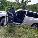 La camioneta en que se transportaban La Mininterior y Gobernador de Bolivar estuvo a escasos metros de caer por un precipicio.