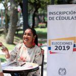 inscripción de cédulas para las elecciones de octubre