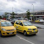 Taxis en las calles de Bogotá
