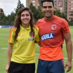 Falcao y Natalia Gaitán, capitana del seleccionado femenino