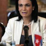 La Vicepresidenta de Panamá y ministra de Relaciones Exteriores, Isabel Saint Malo