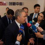 Apertura de la plataforma Baidu para Colombia permitirá a los chinos conocer la belleza de nuestro país y fortalecer el turismo, dijo el Presidente Duque durante su visita al  Centro de Emprendimiento de Changyang Campus, en Shanghái.