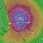 Una visualización gráfica del Huracán Dorian sobre las Bahamas.