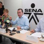 Director del Sena Carlos Mario Estrada, al centro.Cortesía Prensa Sena