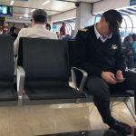 Sergio Zuluaga en el aeropuerto JMC / Foto: @clacarras1966