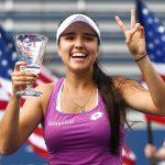 Camila Osorio, tenista colombiana. Cortesía: Garrett Elwot / USTA.