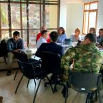 Ministra del Interior Nancy Patricia Gutiérrez preside el Consejo de Seguridad Ampliado en la alcaldía del municipio de Toledo,