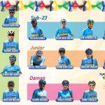 Selección Colombia de Ciclismo que estara en el Campeonato Mundial de ruta de Yorkshire, Inglaterra.