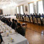 El Presidente Iván Duque encabeza la reunión de trabajo, en la Casa de Nariño, durante la cual se evaluaron los avances del Plan Ágora, que busca garantizar unas elecciones transparentes y seguras en octubre próximo