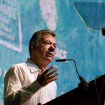 EXpresidente Juan Manuel Santos en la XVII Cumbre Mundial de Premios Nobel de la Paz