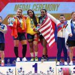Leidy Solís, doble campeona mundial de levantamiento de pesas