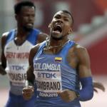 Anthony Zambrano correrá la final de los 400 metros del Mundial de Atletismo