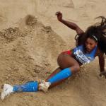 En el segundo salto, Caterine Ibargüen logró clasificar con una marca de 14.32 mts y la veremos en la final el próximo sábado.Foto: Instagram @atletismocolombia