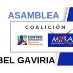 Maria Isabel Gaviria a la Asamblea de Caldas por el partido MIRA y Centro democratico