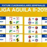 FIXTURE DE LOS CUADRANGULARES SEMIFINALES - LIGA AGUILA II-2019