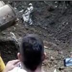 En derrumbe de autopista Medellín-Bogotá podría haber un conductor atrapado