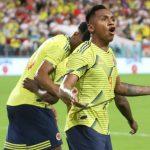 Alfredo Morelos anotó el gol de la victoria ante Peru en los últimos minutos.FOTO FCF