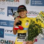 Daniela Atehortúa celebra en Salento y es la nueva líder de la Vuelta a Colombia Femenina UCI 2.2